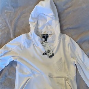Adidas white climalite pull over